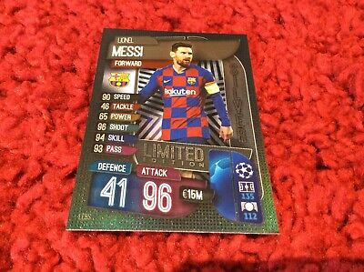 match attax 2019/2020 LIONEL MESSI SILVER LIMITED EDITION