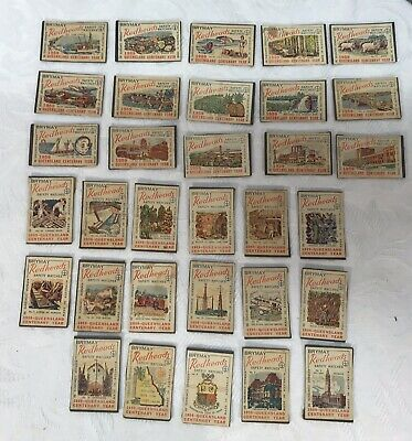 Set of 32 Vintage 1959 Brymay Redheads Matchbox Covers