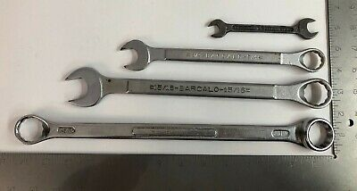 Set of 4 Vintage BARCALO Wrenches Assorted SAE Made in USA