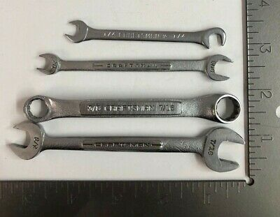 Lot of 4 Vintage CRAFTSMAN Assorted Wrench Set SAE Made in USA