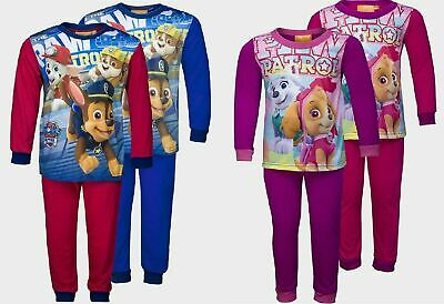 Paw Patrol Pyjamas Childrens Kids Boys Girls Pink Blue Red PJs Age 2-8 Years