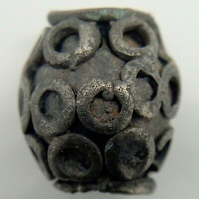 Bronze Bead  / Amulet Solar signs 800-1200AD. Viking