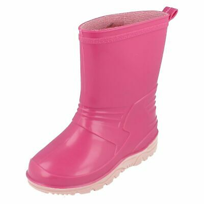 Spot On X1R058 Girls Pink Wellington Boots UK Size 7 (R28A)