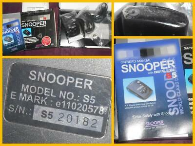 Snooper S5-R Car Safety Speed Camera Detector Complete With Cables New