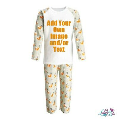 Baby/Kids Personalised Woodland Christmas Pyjamas | Fox PJs | Xmas PJs | Festive