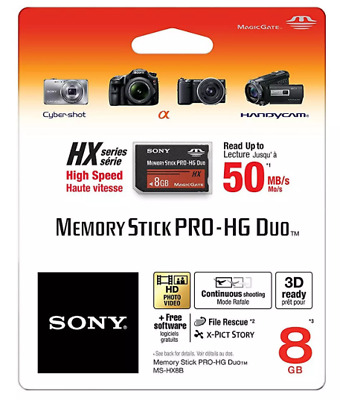 8G 8GB Memory Stick Pro-Hg Duo Hx Ms Magic Gate Card For Sony Camera For PSP 8E