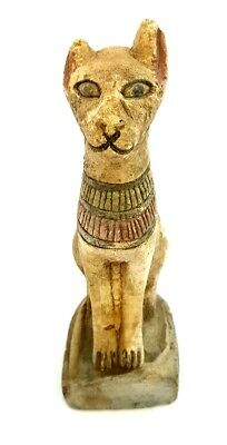 Very Rare Ancient Egyptian Goddess Bastet Dynasty 26 statue Cat Sculpture Egypt