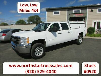 2012 Chevrolet 3500HD 4x4 Crew-Cab Pickup, Summit White with 22372 Miles availab