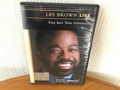 """Les Brown  """"Live"""" Step Into Your Greatness Seminar - DVD & CD AUDIO PACKAGE!"""