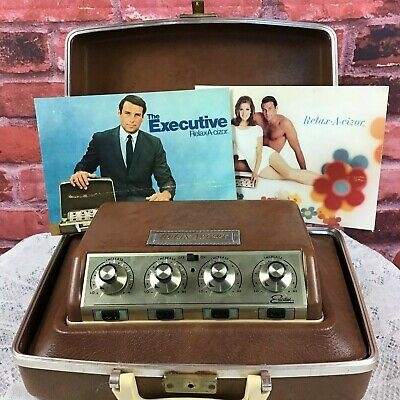 Vintage 1968 Relax-A-cizor Executive Fad Weight Loss Muscle Stimulator Mad Men