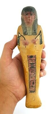 Large Marvelous ancient Egyptian Ushabti with cartouch Statue Figure Antiques