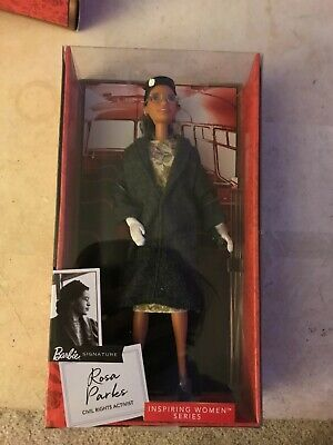 IN HAND Barbie Inspiring Women Rosa Parks Doll with Accessories