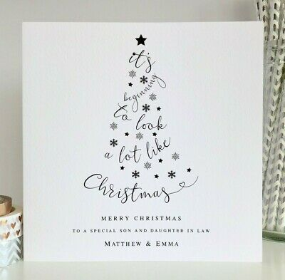 Personalised Christmas Card Son Daughter in Law Brother Sister Friends Family