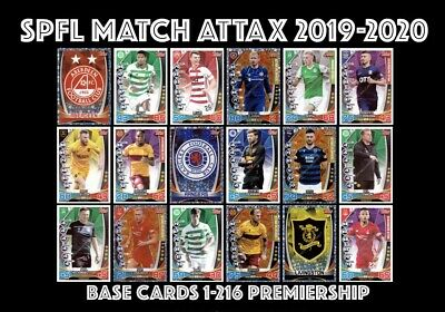 Topps Spfl Match Attax 2019/20 19/20 Premiership 1-216 Buy 4 Get 10 Free