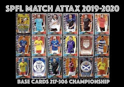 TOPPS SPFL MATCH ATTAX 2019/20 19/20 CHAMPIONSHIP 217-306 inc MAN OF THE MATCH