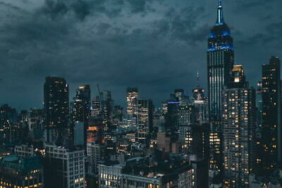 G1557 New York Empire State Building Night City Wall Print POSTER AU