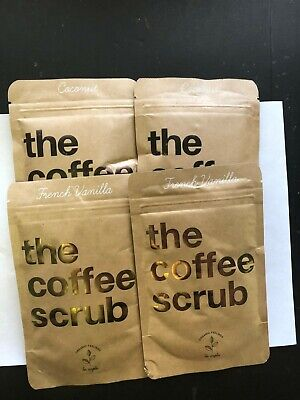 4X The Coffee Scrub French Vanilla Coconut Body Scrub Organic Feelings