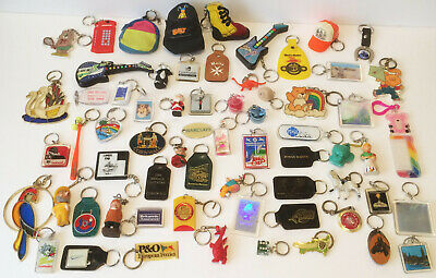 Huge Job Lot Vintage Key Rings Keychains Seventies Eighties