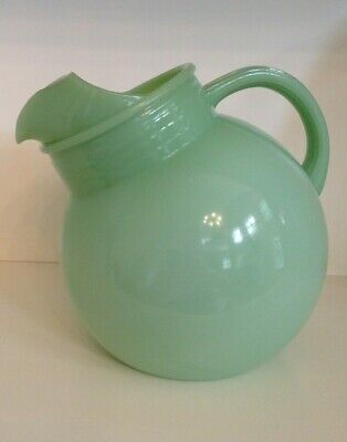 Vintage original Fire King Jadite Plain Ball Jug/ Pitcher, Restaurant Ware