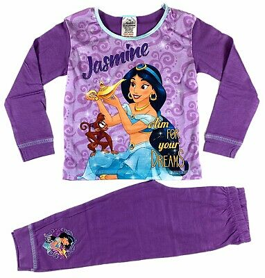 Official Girls Disney Aladdin Pyjamas Pajamas Pjs Boys Kids Toddlers 2 3 4 5