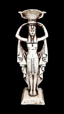 Very rare Ancient Egyptian Striding Ptolemaic Isis greek Goddess Hathor antique