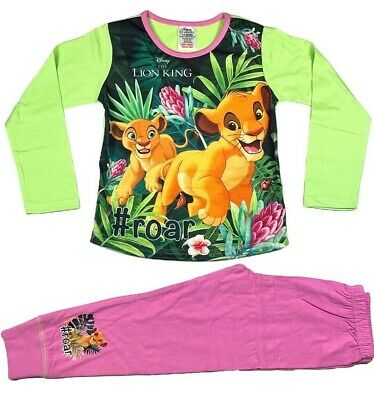 Official Girls Disney Lion King Pyjamas Pajamas Pjs Boys Kids Toddlers 5 6 8 10