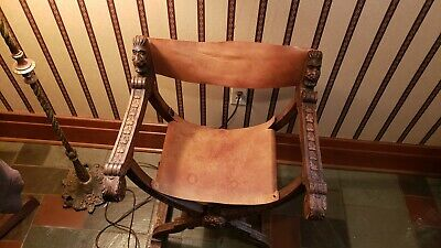 Antique savonarola chair Hand Carved Folding Chair