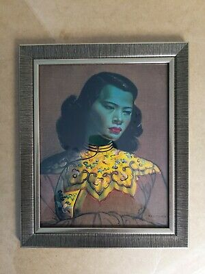 The Green Lady or Chinese Girl By Vladimir Tretchikoff Framed Print