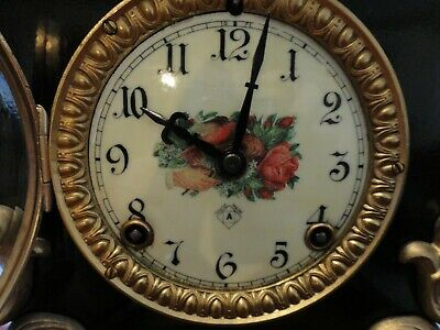 Ansonia Mantle Clock 8 day Rare Runs Gongs Patent 1882