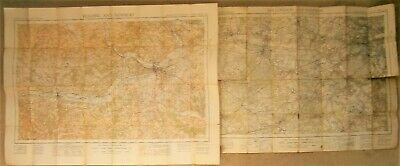 Vintage Ordnance Survey Maps 1933. Reading & Newbury 113. London & Windsor 114
