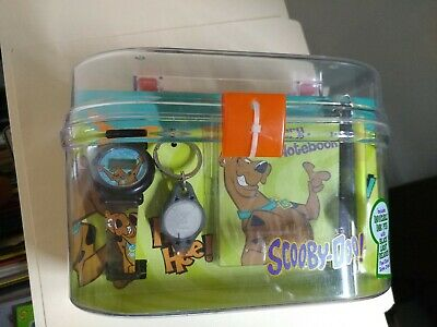 Scooby Doo Watch WORKS & Keychain & Mystery Notebook vintage 2006 NIB free ship