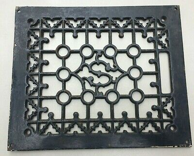 Antique Cast Iron Square Decorative Heating Vent Ornate Floor Grate 11'' by 10''