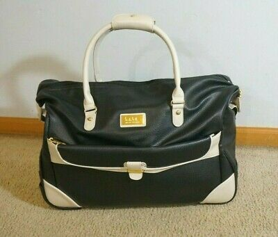 Nicole Miller New York Luggage Carry On Rolling Bag Under Seat Bag
