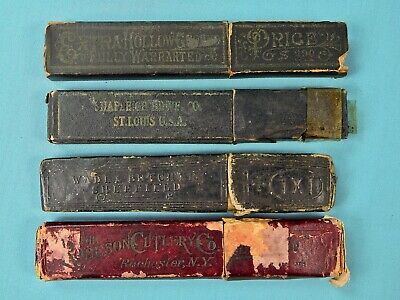 Vintage Lot of 4 Empty Carton Box Case for Straight Razor
