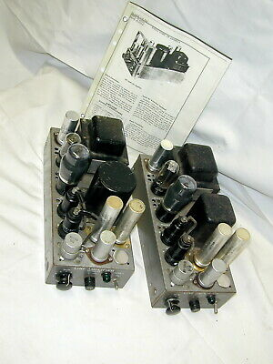 RCA MI-12243 Single-End 6F6 / 6V6 Tube Amplifiers [Pair]