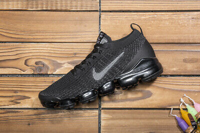 NIKE AIR VaporMax Flyknit 3 2019 MEN Triple Black Running Trainers Shoes
