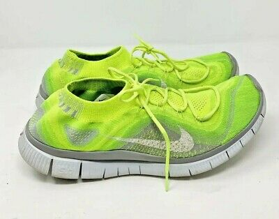 NIKE FLYKNIT FREE 5.0 Electric Green Rainbow Mens Running