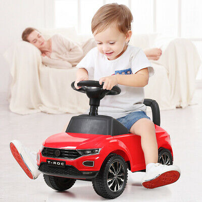 Kids Riding Toy Ride On Push Car Foot To Floor Stroller Baby Toddler w/ Horn Red