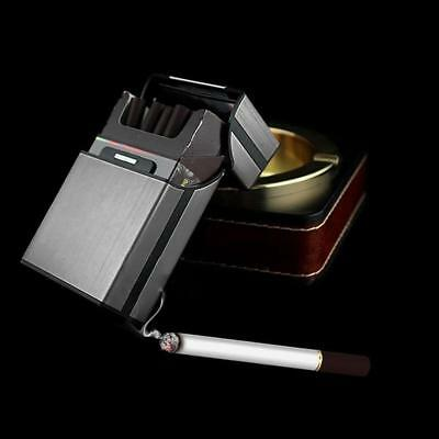 Black Cigar Cigarette Case Aluminum Tobacco Holder Storage Container Pocket New