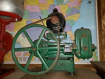 Restored Electric F.E.MYERS WATER PUMP Cast Iron hit & miss well cistern & Motor
