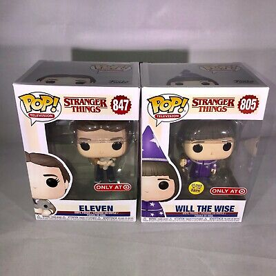 Funko Pop! Stranger Things #805 WILL THE WISE #847 ELEVEN BEAR Target Exclusive