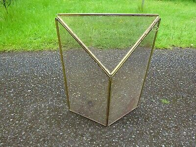 Vintage Gold Folding Fire Guard Fireplace Surround Screen Protector