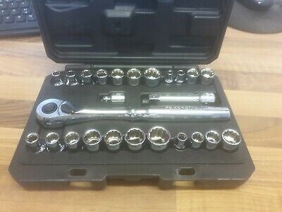 Aircraft Aerospace Tools Craftsman 25Pc Socket Set With 3/8 Ratchet Mm & A/F