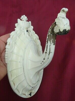 Vintage Victorian Shabby Chic Cast Iron Wall Hook Sconce Wall Fixture 8 3/4""