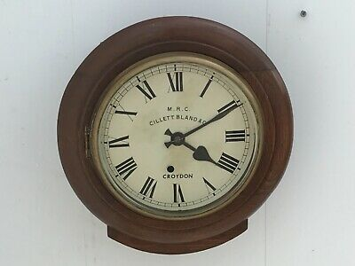 Antique English round  Oak cased 8 inch Dial with 8 day mechanical movement