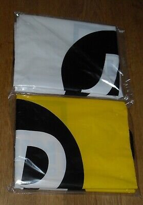 2 Pack JD Sports Drawstring Bags 1 x White, 1 x Yellow  - NEW IN SEALED BAG -