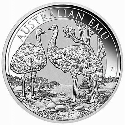 NEW Perth Mint - Australian Emu 2019 1oz .999 SILVER COIN Mint Sold Out