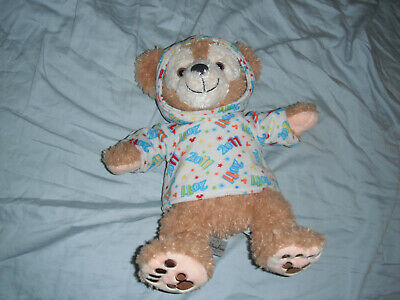 "DISNEY DUFFY BEAR, 13"" SIZE, 2011 with HOODIE,  USED, WELL LOVED GREAT CONDITION"