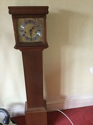 Lovely mahogany Grand Daughter Clock good condition