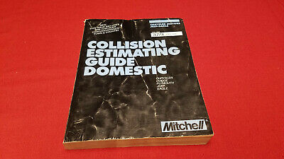 1995 Mitchell Collision Estimating Guide Domestic, Chrysler, Jeep,Dodge Plymouth